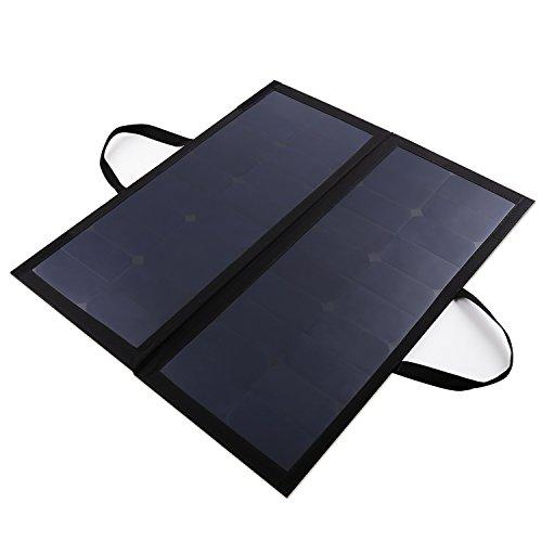 AUKEY Pannelli Solari 60W di Sunpower, 12V 5A, per Ricaricare Batterie di 12V di Auto o di Motocicletta