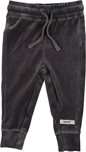 Papfar Soft Velvet Jogginghose, Bas de Survêtement Mixte Bébé, Gris (Dark grey 150) - 68 (Taille Fabricant: 6M)