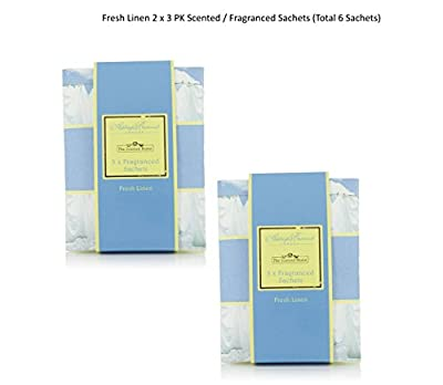 Pack of 6 Scented Sachets - Fresh Linen produced by Ashleigh & Burwood - quick delivery from UK.