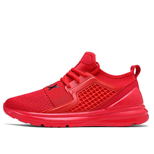 2019 New Sneakers Men Plus Size 39-48 Designer Adult Summer Breathable Fashion Lightweight Trainers Comfortable Shoes Men #7058 Red 7.5