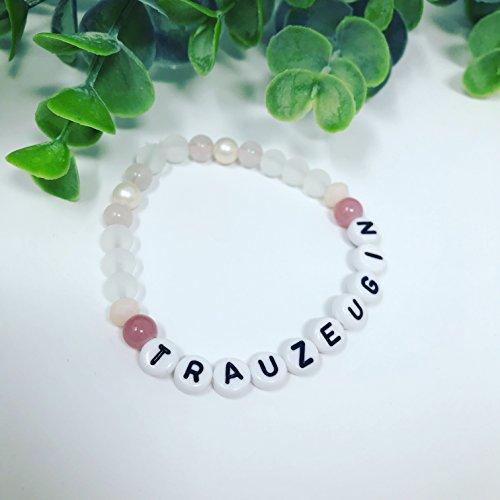 Armband Trauzeugin Jade pastell rosa