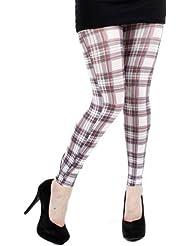 Pamela Mann - Legging Ecossais blanc - Taille unique