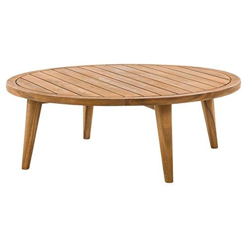 miaVILLA Tisch Barcelona - Lounge-Tisch - Rund - Akazienholz - Natur