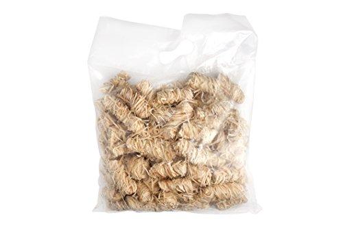 Allume Bio en laine de bois et cire, 4 Kg (2 sachets/Contenu par sachet env. 170 pièces) de barbecue Allgrill®