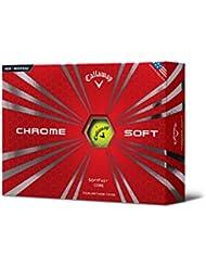 2015 Callaway Chrome Soft Hommes Balles de Golf Douzaine - Jaune - Neuf