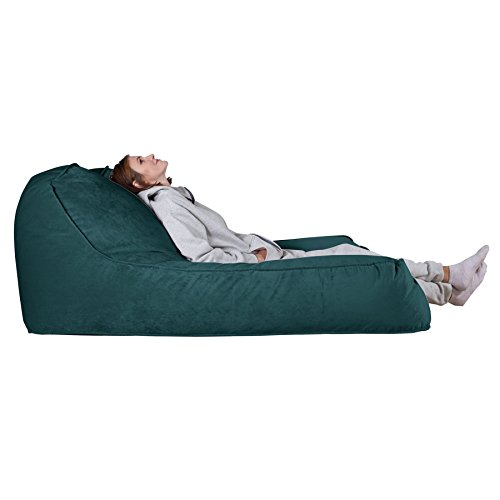 Lounge pug®, pouf chaise longue, 2 persone, velluto - alzavola