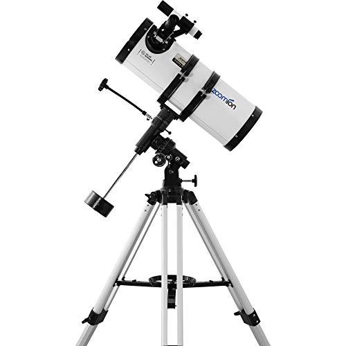 Zoomion Gravity 150/750 EQ Telescopio Reflector astronómico con trípode, Montura y oculares para Adultos y recién llegados a la astronomía