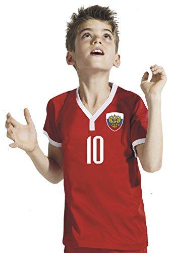 Aprom-Sports Russland Kinder Trikot - Hose Stutzen inkl. Druck Wunschname + Nr. RRR WM 2018 (116)
