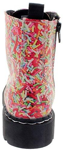 T.u. k. bottines rAINBOW sPRINKLES vEGAN aNARCHIC bOOTS t2239 cOMBAT Multicolore - Multicolore