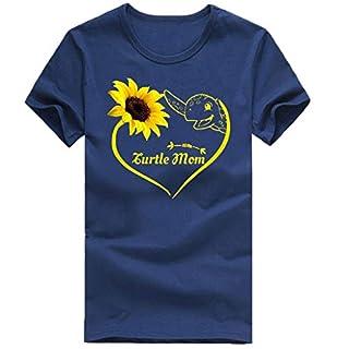 XuxMim Frauen Mädchen Plus Size Lips Print Kurzarm T-Shirt Bluse Tops(Marine-2,Large)