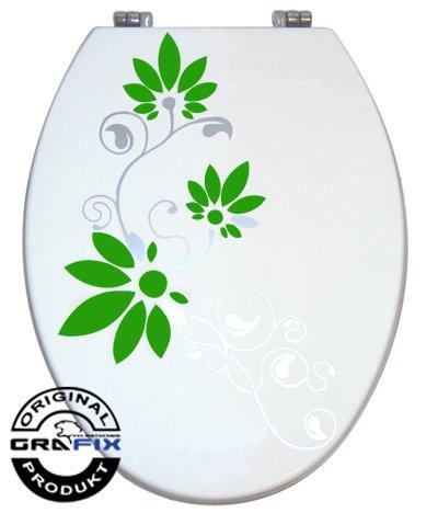 Aufkleber WC Toiletten Deckel St02 für Pressalit silbergrau/gruen Vinyl