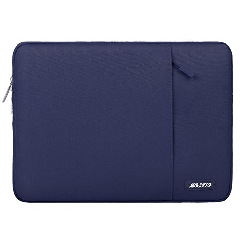 MOSISO Laptop Sleeve Hülle für 2018 MacBook Air 13 A1932, MacBook Pro 13 Zoll A1989&A1706&A1708 2018 2017 2016, Surface Pro 6/5/4/3, Polyester Vertikale Stil Wasserabweisend Laptoptasche, Navy Blau