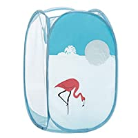 CHENHUI storage box Cartoon Theme Mesh Foldable Pop-Up Laundry Hamper Basket With Portable Handle For Dirty Cloth Or Toy Chest Storage