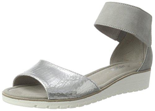 Gabor Shoes Fashion, Sandali con Zeppa Donna Argento (silber/stone 60)