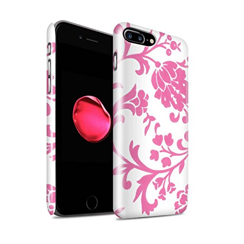 STUFF4 Glanz Snap-On Hülle / Case für Apple iPhone 8 Plus / Pack (5 Pack) / Blumenmuster Kollektion Rosa Blume