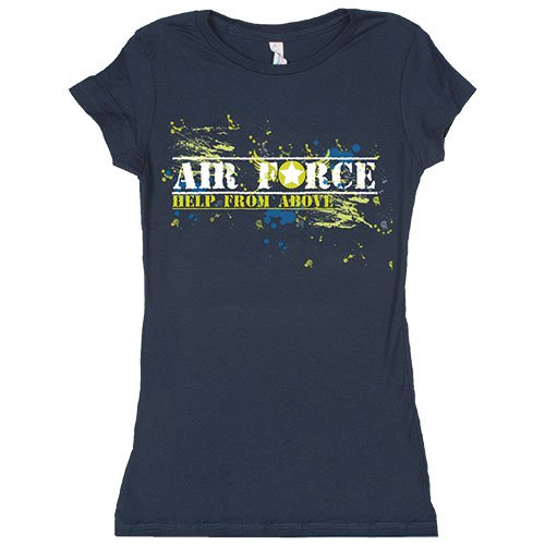 Fox Outdoor Produkte Damen Air Force von oben Baumwolle Tee Medium navy (T-shirt Navy Fox)