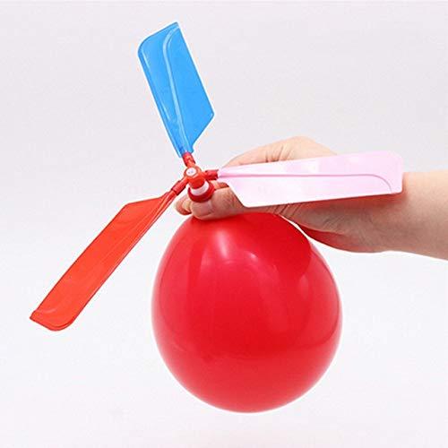 DishyKooker 1 Pieza Divertido Globo helicóptero Volador Educativo para niños Juguetes inflables al Aire Libre Jugando Globo helicóptero Volando Juguete espectáculo