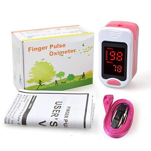 ZXG Finger-Pulsoximeter Tragbares Oxymeter Blutsauerstoffsättigungsmesser SPO2 PR Pulsoximeter Pulsoximeter Oxymeter,Pink