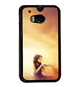 Fuson Designer Back Case Cover for HTC One M8 :: HTC M8 :: HTC One M8 Eye :: HTC One M8 Dual Sim :: HTC One M8s (Girl Model Girl Modern Girl Pretty Girl Gorgeous Girl)