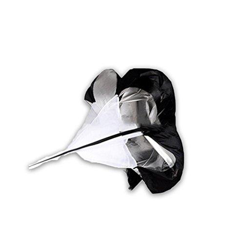 Belingeya Sprintfallschirm Speed Chute–Widerstands Fallschirm–Training Parachute–Speed schüttgutindustrie–Laufen Fallschirm für Fußball Oder Fußball mit Gratis Tragetasche, Schwarz