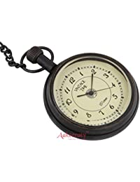 Aakeeraty Vintage Time Beautiful Brass Pocket Watch Chain Retro Pocket Watch