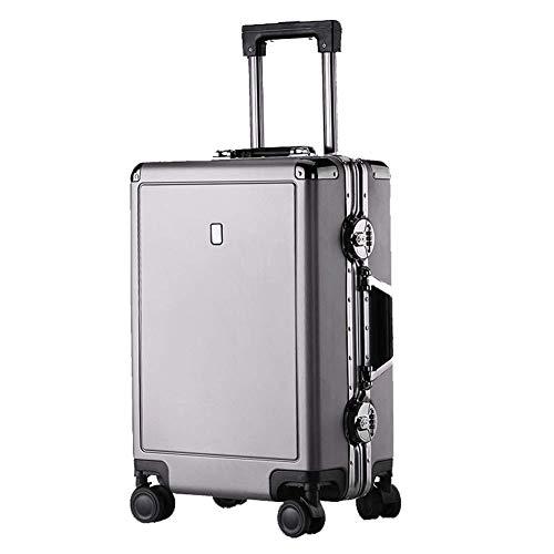YUNY Koffer, TSA-Schloss und 4 Drehräder für den leichten Vintage-Reisekoffer mit Hartschalengepäck-grey-S(20in)