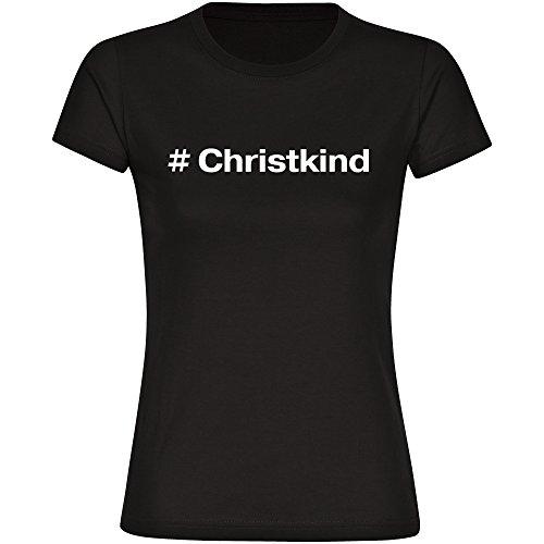 Multifanshop T-Shirt Hashtag # Christkind Schwarz Damen Gr. S bis 2XL, Größe:L (Erste Premium-rundhals-sweatshirt)
