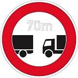 Verkehrszeichen VZ273, Verbot des Unterschreitens des..., Alu, RA1, Ø 42cm Verkehrsschild