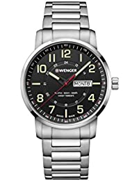 [Wenger] WENGER watch 10 ATM water resistant Military Day-Date Attitude Day & Date 01.1541.102 Men's [regular imported goods]