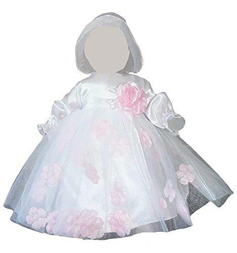 Kleid für die Taufe, Hochzeit und alle anderen Anlässe, Taufkleid für Baby, Taufkleidung für Babys, Kleidchen für Mädchen Y19 Gr. 80/86 (Designer Taufkleider)