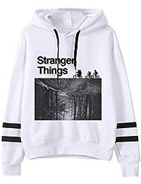 Angel ZYJ Sudadera Stranger Things Niña, Sudadera Stranger Things Temporada 3 Stranger Things Mujer Suéter Hombres Impresión de Cartas Sudadera con Capucha Series de Television Regalos
