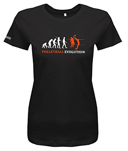 Volleyball Evolution - Damen T-Shirt in Schwarz by Jayess Gr. L