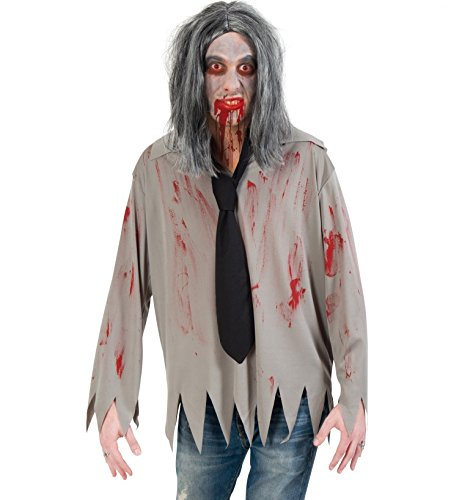 Kostüm Zombie Hemd mit Krawatte Halloween (Large)