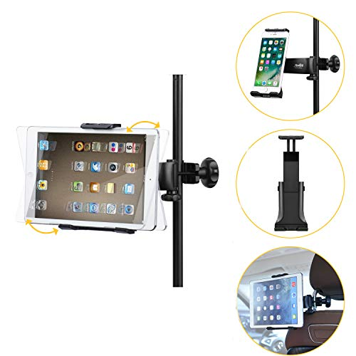 supporto x tablet Moukey Mmsph-1 Supporto tablet cellulare per Auto/ Microfono Stand Porta con Rotazione a 360 Gradi per tablet iPad Smartphone come iPhone XR XS MAX X 8 7 Plus 6S Galaxy S9 Note LG V30