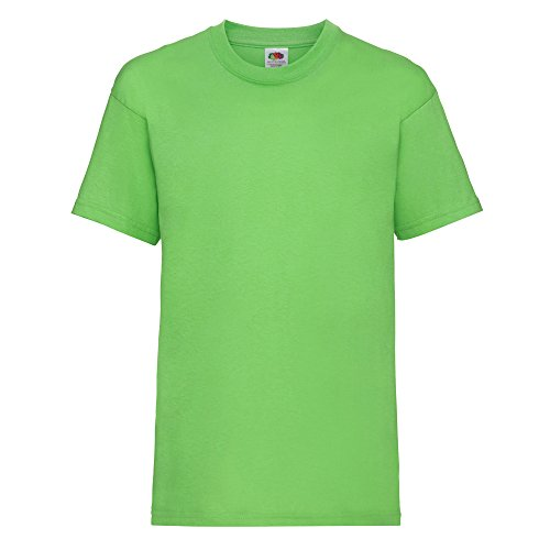 Fruit of the Loom Kinder T-Shirt Valueweight T Kids 61-033-0 Lime 164 (14-15)