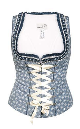 Michaelax-Fashion-Trade Marjo - Damen Trachten Mieder in Indigo Blau, Bine-Lisa (223400-121000), Größe:36, Marjo Farbe:Indigo Blau (3685)