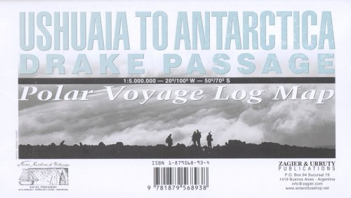 Ushuaia to Antarctica - Drake Passage Map: Polar Voyage Log Map