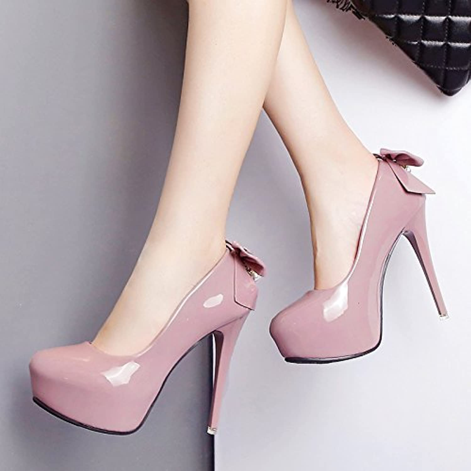 130cf940c34 ZHZNVX Women s shoes waterproof Taiwan high with with with stylish new fall  Bow Tie lady high heels fine with beaded waterproof... B07CGL7RZY Parent  29c60b