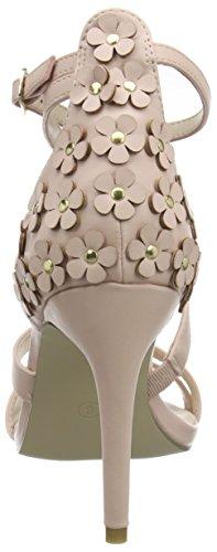 Dorothy Perkins Damen Serene Flower Sandalen mit Absatz Rosa (Peach)