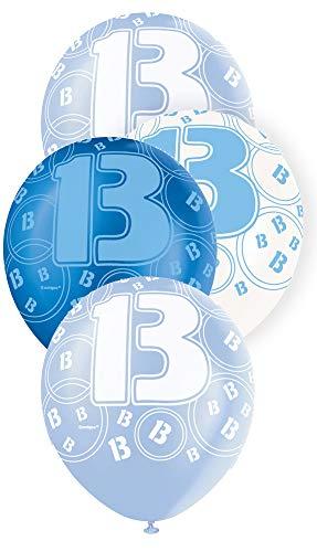 Unique Party Latex-Luftballons für den Geburtstag, glitzernd, 30,5cm, 6Stück (Boy Themed Geburtstags-party-ideen)