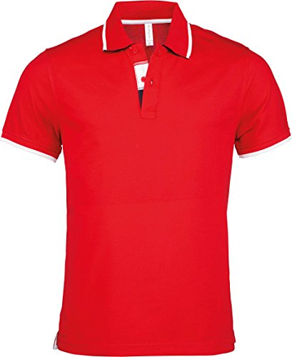 Kariban Herren Poloshirt Weiß