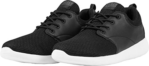 Urban Classics Light Runner Shoe Unisex-Erwachsene Low-Top Mehrfarbig (blk/wht 50)