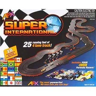 AFX 4-Lane Super International Race Set w/Mega G Cars by AFX