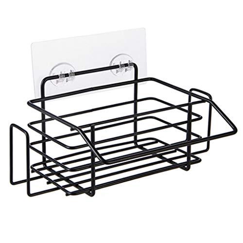 Handtuchhalter Handtuchhalter Bad Handtuchhalter Moderne Küche Kühlschrank Regal Multifunktions stanzfreie Handtuchhalter Bad Regal (Color : Black, Size : 23.7 * 19 * 10.5cm)