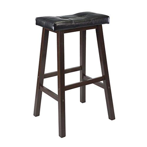 Winsome Mona 24Kissen Sattel Sitz Hocker, holz, Walnuss, Antik-Optik, 74 cm