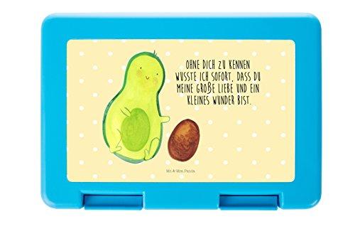 Mr. & Mrs. Panda Brotdose Avocado rollt Kern - 100% handmade in Norddeutschland - stabil, Geschenk, Love, Frühstücksdose, Kunststoff, Brot, Brotdose, Essendose, Vesperdose, Geburtstag, Avocado, Baby (Rollt)