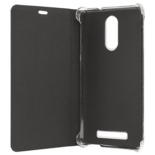 Sdo Textured Leather Finish Flip Cover For Xiaomi Redmi Note 3 (Black)