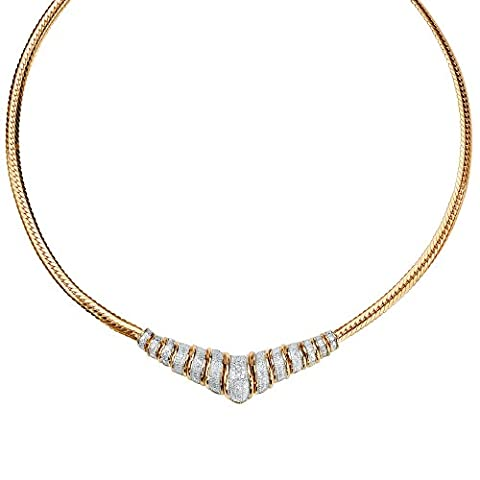 Palm Beach Jewelry - Collier argent sterling plaqué or 18