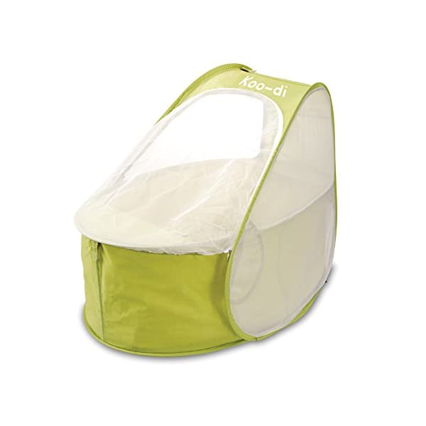Koo-di 80 x 50 x 58 cm Pop Up Travel Bassinette (Lime/ Lemon)  A comfortable bassinette ideal for use at home and on holidays or weekends away A polycotton travel bassinette Ideal up to 6 months or until baby can sit unaided 1