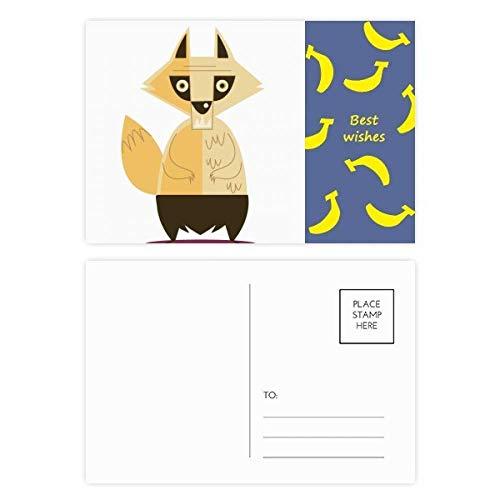 Fox Fear Halloween Ghost Happy Banana Postkarten-Set, Danksagungskarte, Mailing Seite, 20 Stück